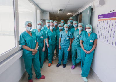 Immagine di gruppo medici e infermieri