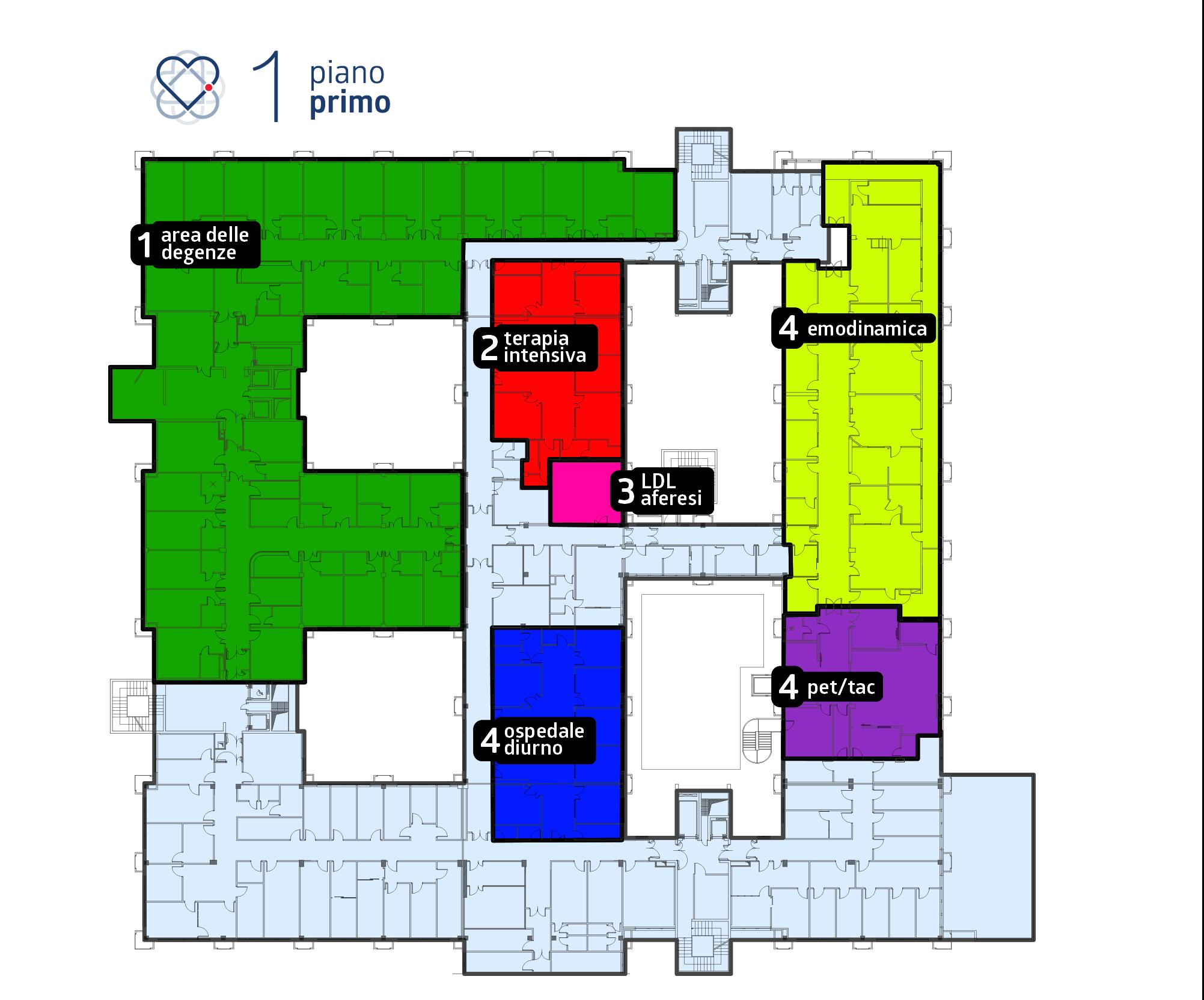 Ospedale San Cataldo, CNR Pisa Piano primo