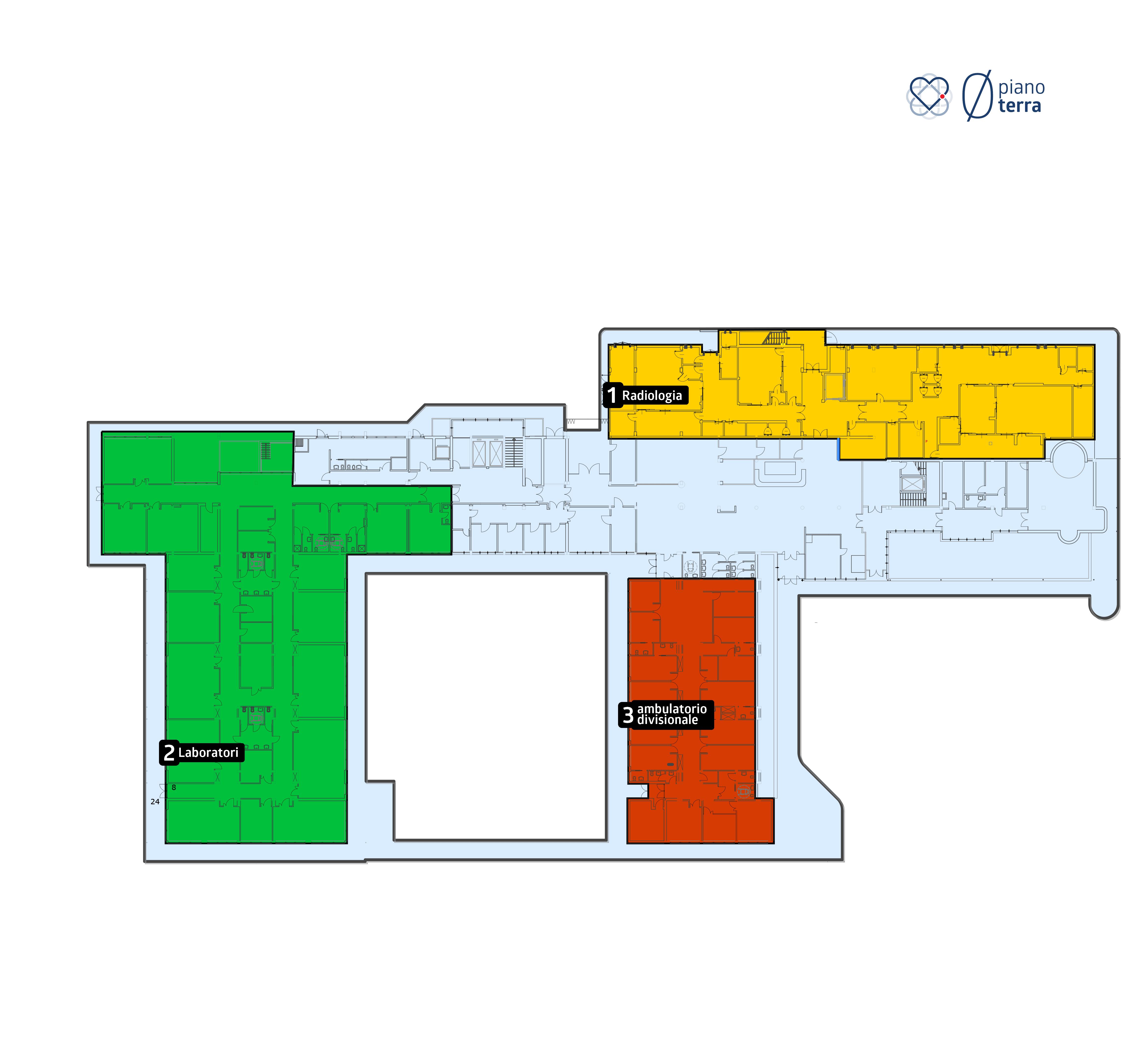 piano terra - ospedale del cuore - Massa